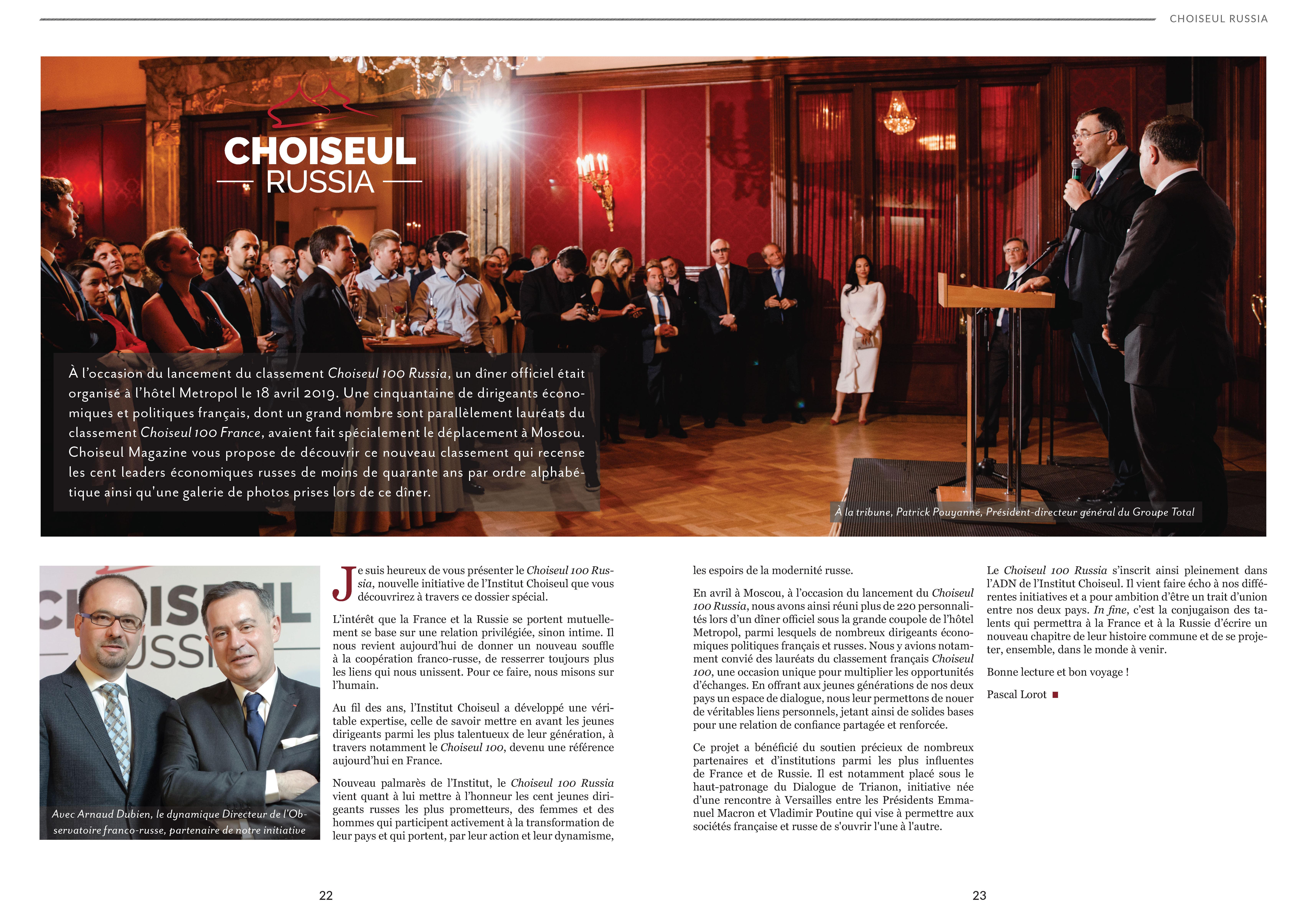 Choiseul Magazine n°7 – Spécial Choiseul 100 Russia